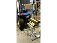 Tractor mounted log splitter, saw horse