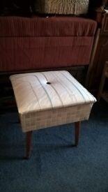 retro needlework box
