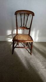 Antique Victorian Bergere cane child chair