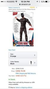 BRAND NEW** Adult MARVEL BLACK PANTHER costume -XL