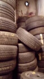Job lot quality part worn tyres all sizes