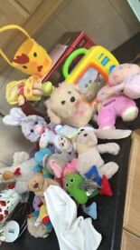 Children's toys and books