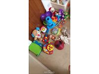 Lots of different toys and brands