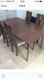 Now reduced!!!!Immaculate extending dining table and chairs