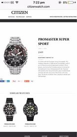 Mens new Citizen Eco-drive watch