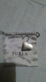 Furla metal heart key ring