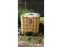 large container water ,diesel or any liquid you choose