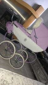 Limited edition silver cross snow fairy dolls pram