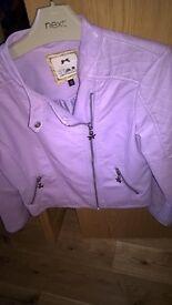Girls Julian McDonald leather jacket