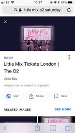 Little mix tickets this Saturday 25th at 02
