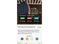 Bean bag and mat will take £25!!