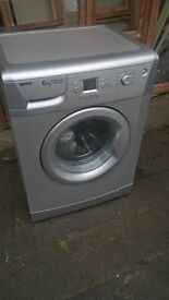 Silver washing machine....Cheap free delivery