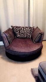 DFS Corner Sofa Snuggle Chair and Footstool