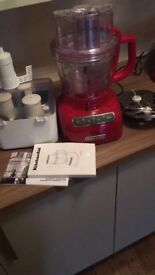 Kitchen aid red food processor