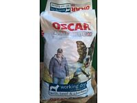 Oscar dog food Working dog beef