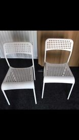 Ikea white plastic chairs