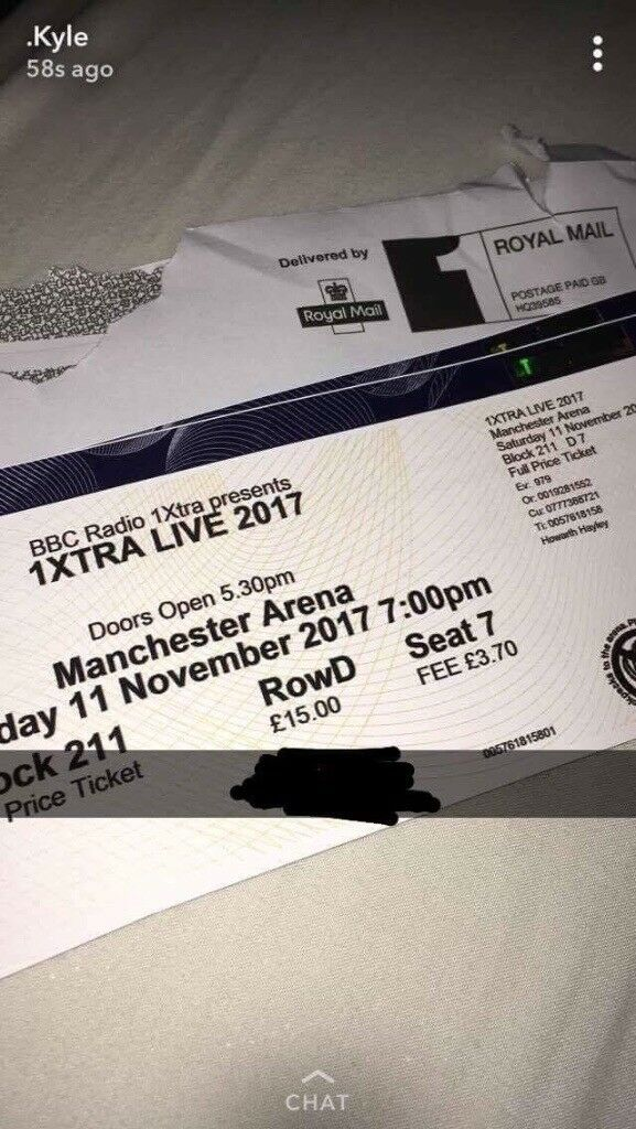 2 BBC 1xtra concert tickets - Tier 2