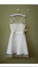Designer Vintage Wedding Dress by Tobi Hannah. Size 8/10