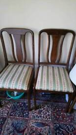 4 dining chairs heavy oak