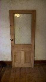 Half Glass Interior Solid Wood Door