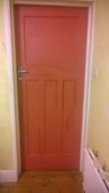 9 wooden four panel doors