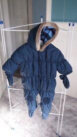 Navy Baby Snowsuit
