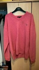 gant mens jumper size xxl in pink mint condition (not stone island or cp company)