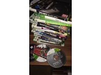 Xbox 360 with games and remote