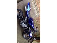 Blue watercooled mini Moto