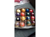Pool balls full set