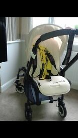 Bugaboo bee plus limited edition all black and Andy Warhol footmuff & liner *fab*