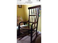 Wooden rocking chair, beautiful antique-style, nursing chair, nursery furniture