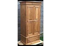 Large solid pine wardrobe, lovely condition