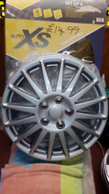 BRAND NEW SILVER 15inch WHEEL TRIMS FOR SALE