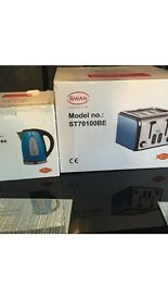Brand new kettle and toaster