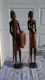 Genuine African Wooden Statues