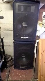 Extra Large KAM PA Speakers 500 watt ZP18 RARE