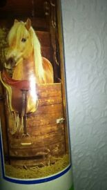 Palomino Horse In Stable Large Poster By Scandecor In Tube As New Condition