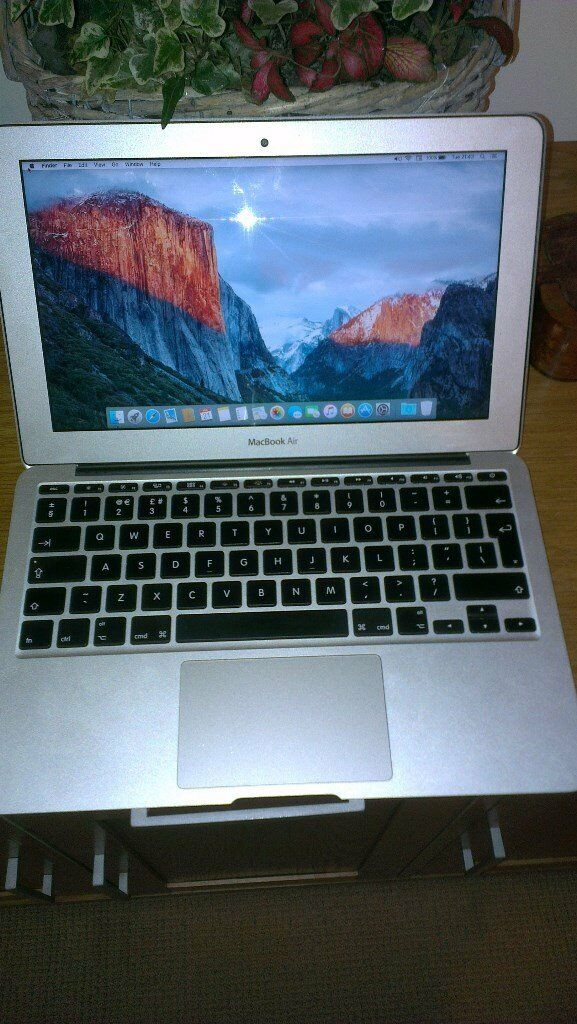 MACBOOK AIR 11 2014in Walthamstow, LondonGumtree - I am selling my macbook air 11 model A 1465 2014 specs are processor 1.4ghz intel core i5 memory 4gb 1600mhz graphics intel hd 5000 ssd 128 gb the laptop is working in good condition with battery cycle count 97 rarely used. The laptop comes with...