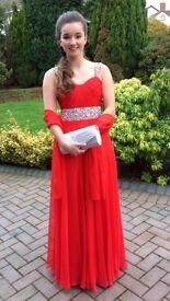 Fabulous Red Designer Gino Cerruti Formal Dress