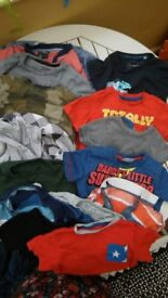 Bundle of boys top aged 2-3 years