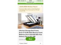 NEW single bed in box with storage lift up mechanism