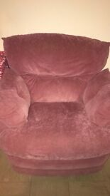 Two seater sofa with 2 armchairs