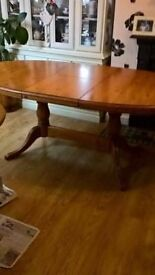 FINAL REDUCTION NEED SPACE QUALITY LARGE SOLID PINE EXTENDING TABLE made by ducal only £80