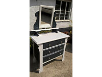 REDUCED***Shabby chic dressing table with mirror - with chair