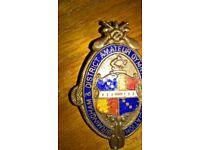 Four Vintage Birmingham & District Amateur Gymnastic Medals & A Shield Medal