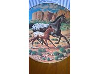 Appaloosa Horse & Foal Collector Plate By Donald Schwartz Boxed & Certificate Excellent Condition