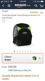 Trunki, booster seat back pack