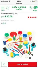 Easel and accessory set