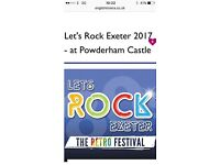 2 x Let's Rock Exeter Tickets inc FREE nearby parking 1st July only